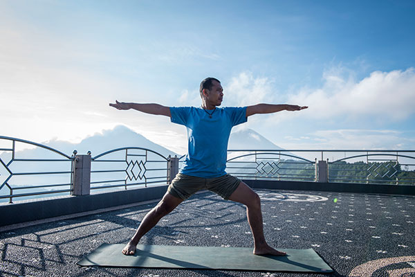 Yoga retreat with Balinese yoga teacher