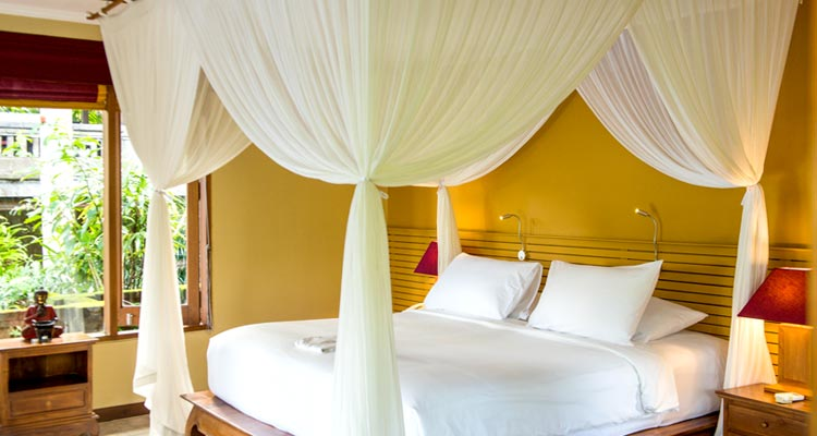 Our yoga retreat centre in Ubud has 14 comfortable and well-equipped rooms, each with a terrace or balcony.