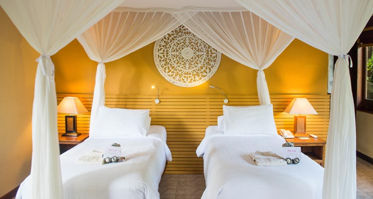 All the rooms can be fitted for double or single occupancy to provide maximum comfort for your yoga retreat in Ubud.