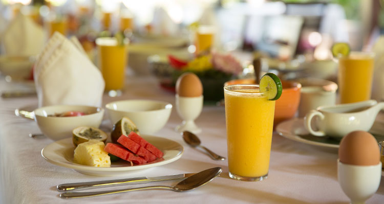 There is nothing like a healthy breakfast to kick off a glorious yoga retreat day, served at Oneworld Retreats.